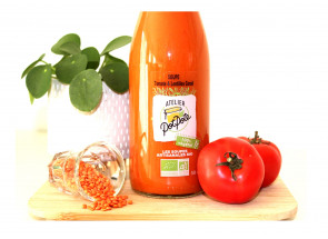 Soupe tomate & lentilles...