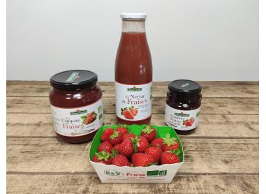 Pack spécial fraises bio & locales