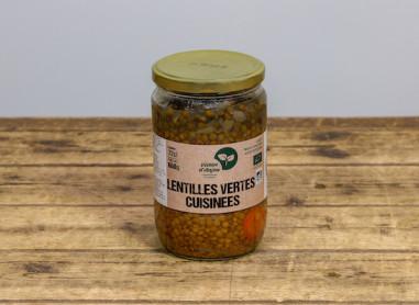 Lentilles vertes - carottes cuisinées...